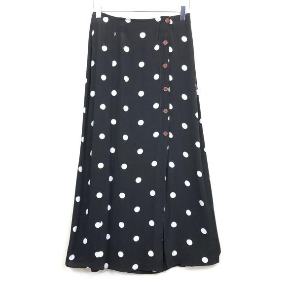 7ce1e92ba24e23 Free People Dresses & Skirts - Free People Retro Love Midi Skirt Polka Dot